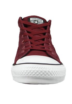 Converse Chucks 161467C Weinrot CHUCK TAYLOR ALL STAR Street Mid Dark Burgundy Black White – Bild 6