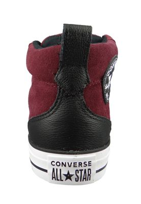 Converse Chucks 161467C Weinrot CHUCK TAYLOR ALL STAR Street Mid Dark Burgundy Black White – Bild 4