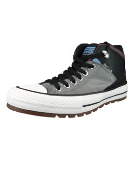 Converse Chucks 161470C Grau CHUCK TAYLOR ALL STAR Street Boot HI Mason Black Dark Burgundy – Bild 1