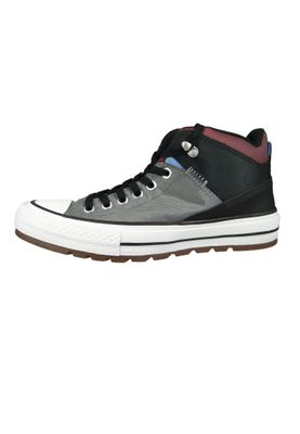 Converse Chucks 161470C Grau CHUCK TAYLOR ALL STAR Street Boot HI Mason Black Dark Burgundy – Bild 2