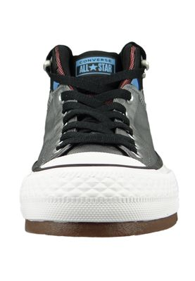 Converse Chucks 161470C Grau CHUCK TAYLOR ALL STAR Street Boot HI Mason Black Dark Burgundy – Bild 5
