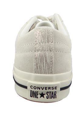 Converse Chucks 161542C Beige Leder One Star OX Egret Gold Black – Bild 3
