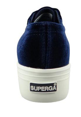 Superga Shoes Sneaker 2790 Velvetpolyw Plateau Velvet Blue S00DJH0 – Bild 3