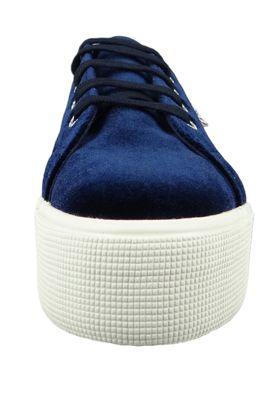 Superga Schuhe Sneaker 2790 Velvetpolyw Plateau Samt Blau S00DJH0 – Bild 5