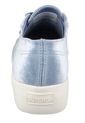 Superga Schuhe Sneaker 2730 Velvetpolyw Plateau Samt Blau S00C3Y0 – Bild 6