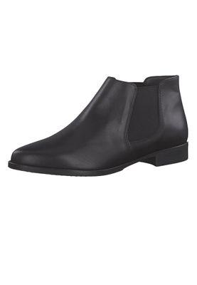Tamaris 1-25097-21 003 Damen Black Leather Schwarz Stiefelette im Chelsea Ankle Boot Style – Bild 1