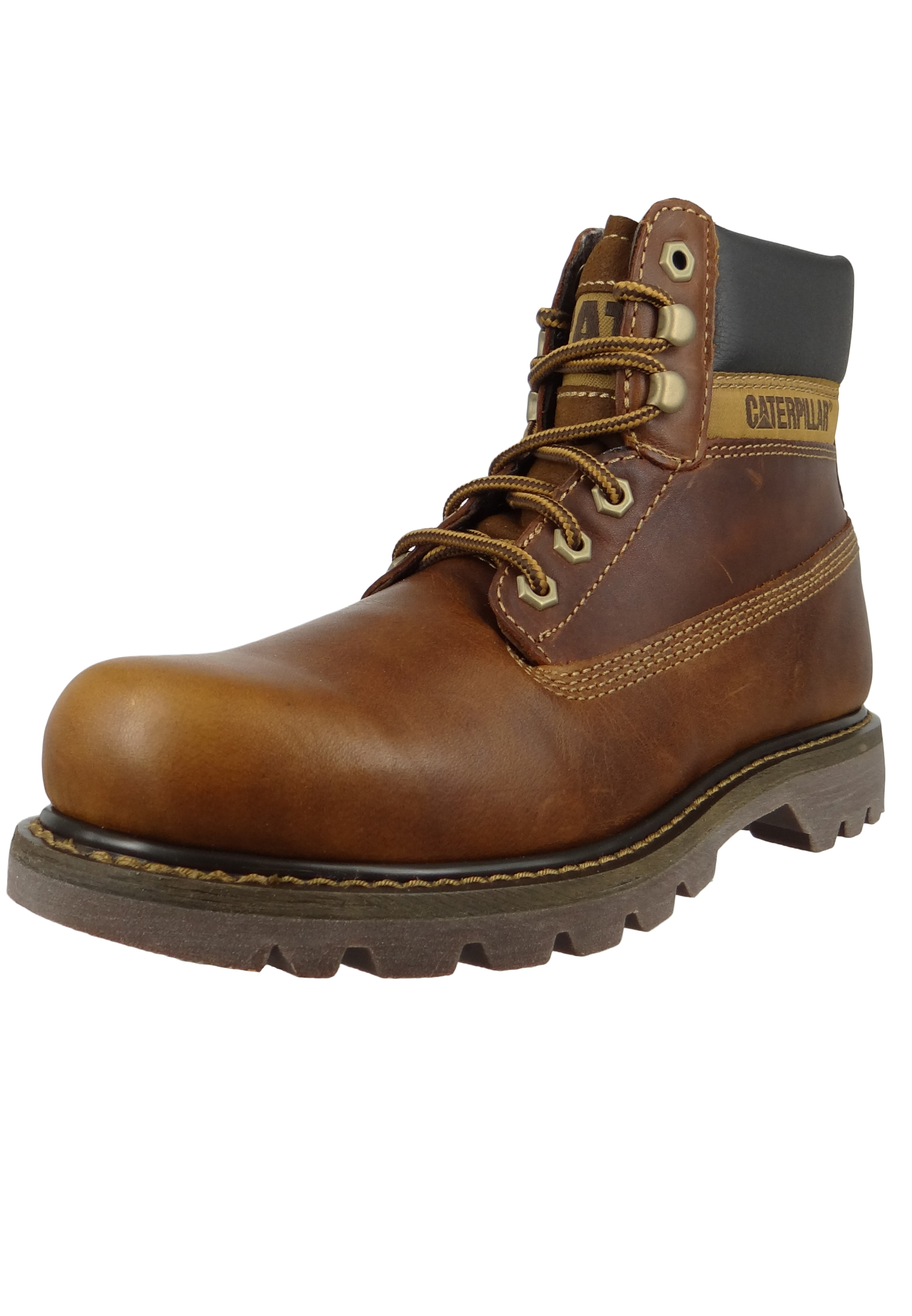 3c304fa16c03 CAT Caterpillar Schuhe Leder Stiefel Colorado Golden Braun P720263 ...
