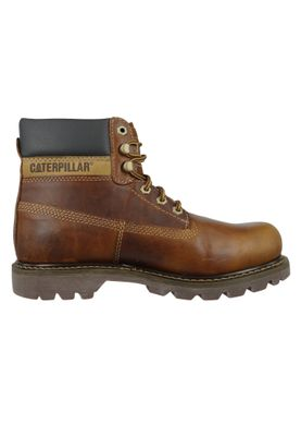 CAT Caterpillar Schuhe Leder Stiefel Colorado Golden Braun P720263 – Bild 4