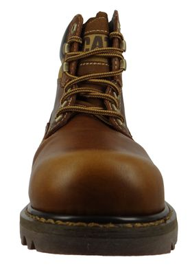 CAT Caterpillar Shoes Leather Boots Colorado Golden Brown P720263 – Bild 5