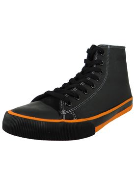 Harley Davidson Leder Sneaker Schnürschuh D93816 Nathan Schwarz Black – Bild 1
