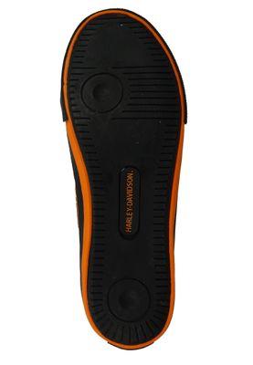 Harley Davidson D93816 Nathan Herren Leder Sneaker Schnürschuh Black Orange Schwarz – Bild 3
