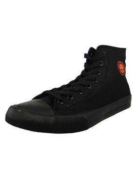 Harley Davidson Leather Sneaker Lace Up D93343 Baxter Black Black – Bild 1