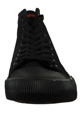 Harley Davidson Leather Sneaker Lace Up D93343 Baxter Black Black – Bild 2