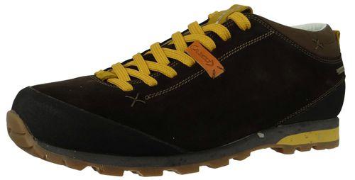 AKU Wanderschuhe Trekking 504.2-305 Bellamont II Suede GTX Dark Brown Yellow – Bild 1