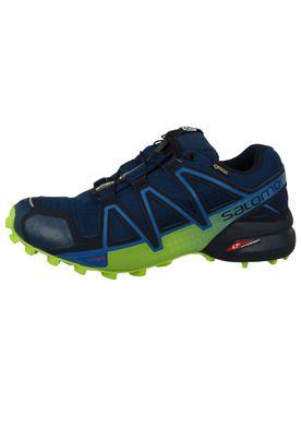 Salomon Schuhe Speedcross 4 GTX Laufschuhe 404923Trail Blau Poseidon Navy Blazer Lime Green – Bild 2