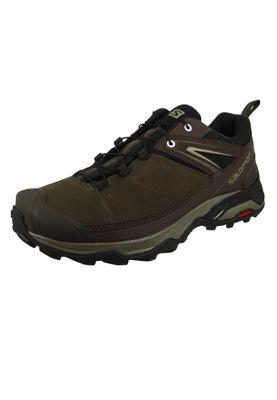 Salomon Schuhe X Ultra 3 LTR GTX Leder Laufschuhe Trail Hiking 404785 Braun Delicioso Bungee Cord Vintage Kaki – Bild 1