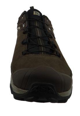 Salomon Schuhe X Ultra 3 LTR GTX Leder Laufschuhe Trail Hiking 404785 Braun Delicioso Bungee Cord Vintage Kaki – Bild 3