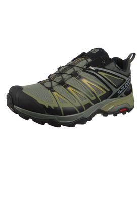 Salomon Schuhe X Ultra 3 GTX Laufschuhe Trail Hiking 402422 Khaki Castor Gray Beluga Green Sulphur – Bild 1