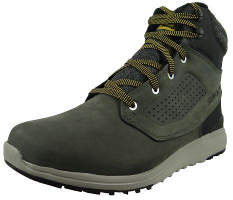 Salomon Winter Shoes Utility Winter CS WP 404798 Gray Beluga Black Green Sulfur – Bild 1