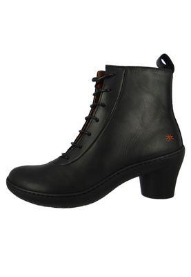 Art Leder Stiefelette Ankle Boot Alfma Black Schwarz 1444 – Bild 4