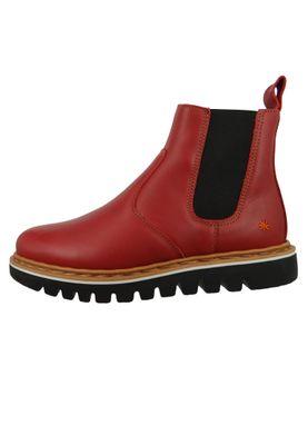 Art Leder Stiefelette Ankle Boot Toronto Amarante Rot 1405 – Bild 2