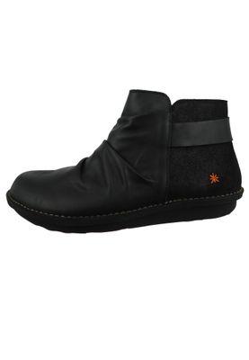 Art Leder Stiefelette Ankle Boot I Explore Black Schwarz 1307 – Bild 2