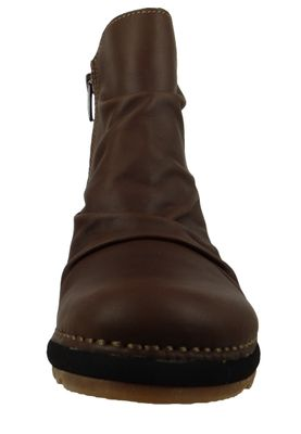 Art Leder Keil-Stiefelette Ankle Boot Tampere 1463 Brown Adobe Braun – Bild 6