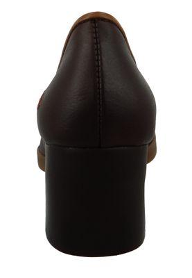 Art Schuhe Leder Pumps Platform Heels Bristol Braun Brown 0076 – Bild 3