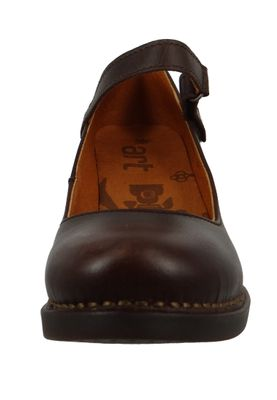Art 0933 Harlem Damen Pumps Leder Riemchenpumps Braun Brown – Bild 6