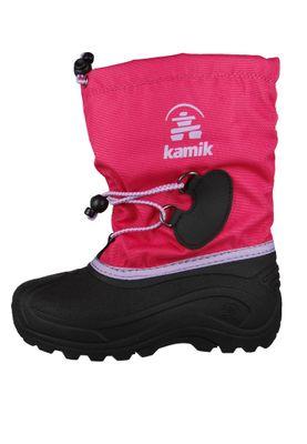 Kamik Kinder Winterstiefel Southpole 4 Gefüttert Stiefel NK8727 Pink Bright Rose – Bild 2