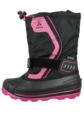 Kamik Kinder Winterstiefel Snowcoast 4 Gefüttert Stiefel NK4852 Schwarz Pink Black Magenty – Bild 2