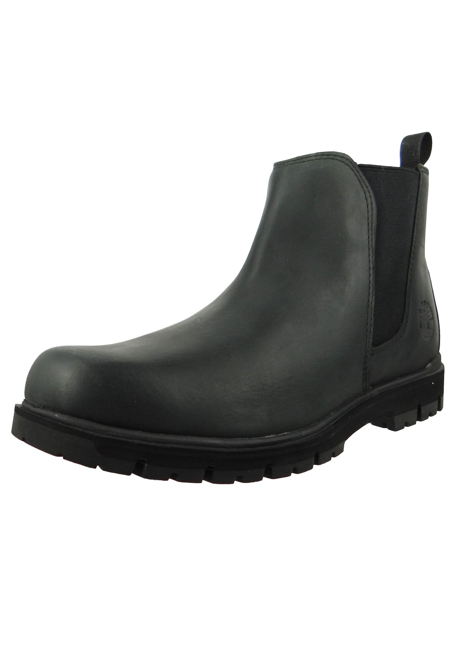 promo code dd381 21bf0 Timberland Herren Stiefelette Radford Chelsea Chukka Boots Schwarz Leder  Potting Black A1UQ6