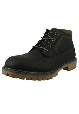 Timberland Herren Schnürschuhe Premium WP Chukka Boots Schwarz Leder Black A1UIX – Bild 1