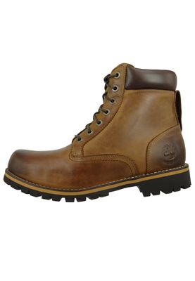 Timberland Herren Stiefel Rupped 6Inch Plan Toe WP Leder Braun Medium Brown 74134 – Bild 4