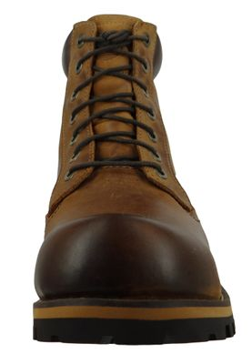 Timberland Herren Stiefel Rupped 6Inch Plan Toe WP Leder Braun Medium Brown 74134 – Bild 2