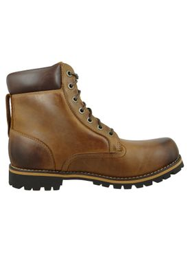 Timberland Herren Stiefel Rupped 6Inch Plan Toe WP Leder Braun Medium Brown 74134 – Bild 6