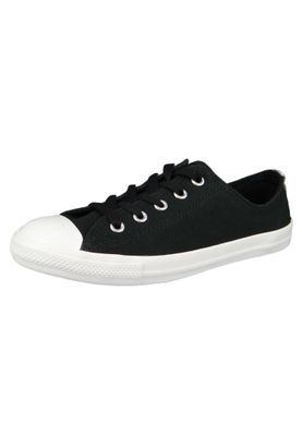 Converse Chucks 562474C Schwarz Chuck Taylor All Star Dainty OX Satin Black Silver White – Bild 1