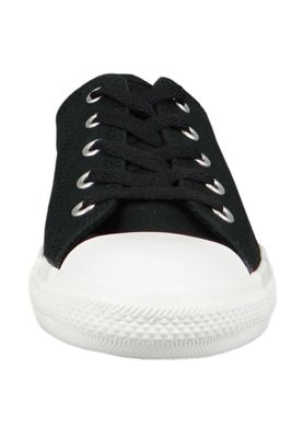 Converse Chucks 562474C Schwarz Chuck Taylor All Star Dainty OX Satin Black Silver White – Bild 3