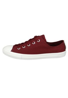 Converse Chucks 562475C Weinrot Chuck Taylor All Star Dainty OX Satin Dark Burgundy Silver White – Bild 3