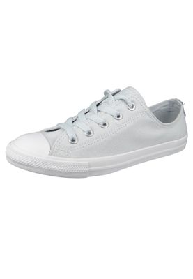 Converse Chucks 562476C Weiss Chuck Taylor All Star Dainty OX Satin Pure Platinum Silver White – Bild 1