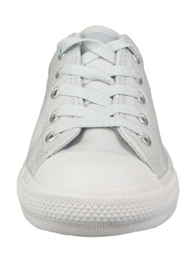 Converse Chucks 562476C Weiss Chuck Taylor All Star Dainty OX Satin Pure Platinum Silver White – Bild 4