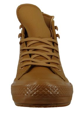 Converse Chucks 162500C Braun Leder Chuck Taylor All Star WP Boot HI Burnt Caramel – Bild 4