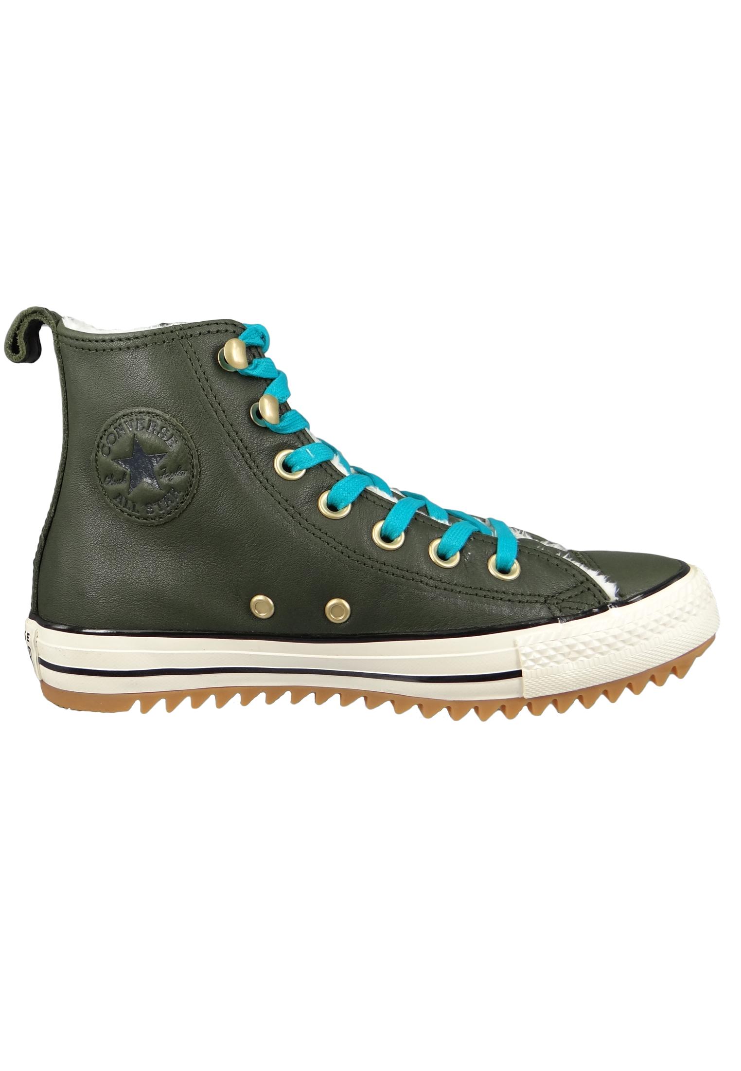 fe01b25704 Converse Chucks 162478C Grün Leder Chuck Taylor All Star Hiker Boot Utility  Green Rapid Teal –