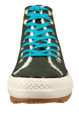 Converse Chucks 162478C Grün Leder Chuck Taylor All Star Hiker Boot Utility Green Rapid Teal – Bild 5