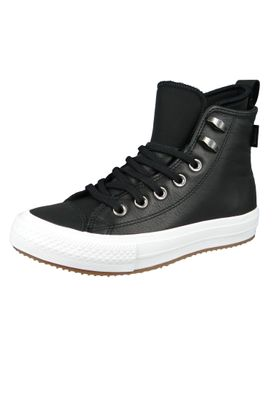 Converse Chucks Schwarz 557943C Chuck Taylor All Star WP Boot HI Black Black White – Bild 1