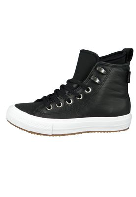Converse Chucks Schwarz 557943C Chuck Taylor All Star WP Boot HI Black Black White – Bild 3
