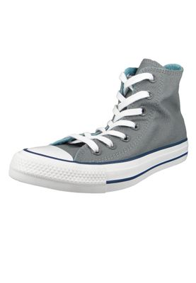 Converse Chucks 162451C Grau Chuck Taylor All Star HI Cool Grey Shoreline Blue