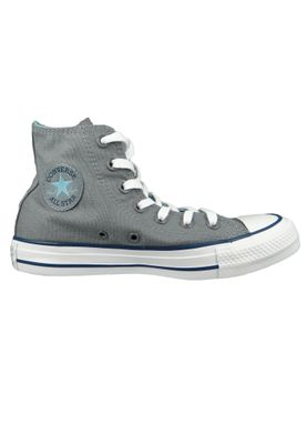 Converse Chucks 162451C Grau Chuck Taylor All Star HI Cool Grey Shoreline Blue – Bild 6