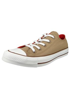 Converse Chucks 162454C Beige Chuck Taylor All Star OX Teak Cherry Red Chestnut Brown – Bild 1
