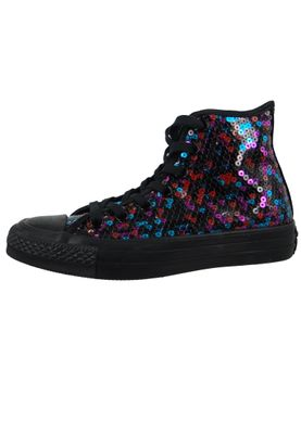 Converse Chucks Schwarz 562443C Chuck Taylor All Star HI Black Blue Cherry Red – Bild 2